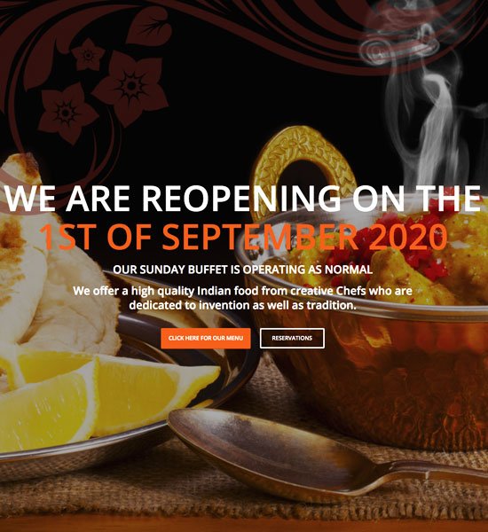 Custom Websites - Zara mayland Restaurant